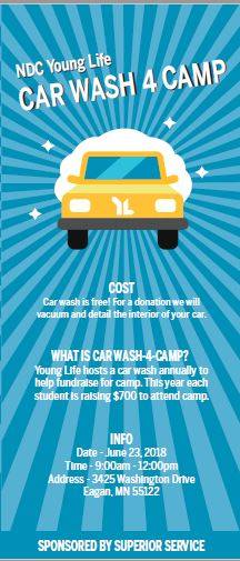 Car Wash to Support Young Life Students